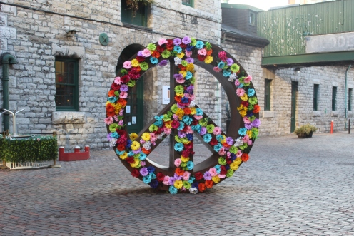 Symbolic Peace Flowers-Distillery District